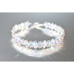 Bracelet fin cristal Swarovski crystal ab2x