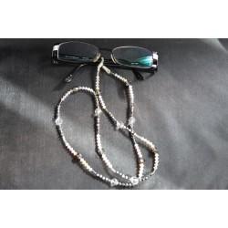 Cordon à lunettes en crystal de Swarovski crystal ab2x, crystal light chrome 2x
