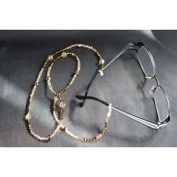 Cordon à lunettes en cristal de Swarovski cristal dorado 2x, crystal golden shadow