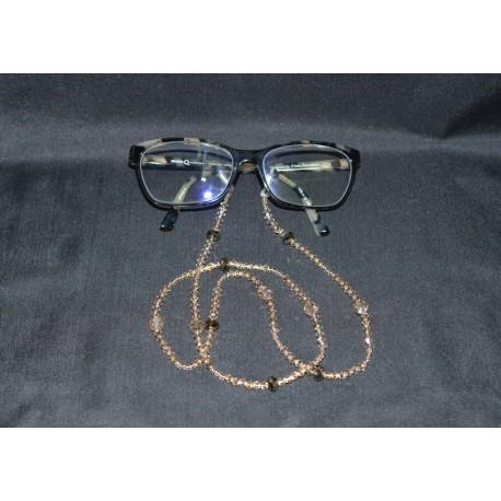 Cordon à lunettes en cristal de Swarovski crystal golden shadow