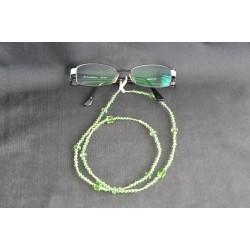 Cordon à lunette en cristal, péridot