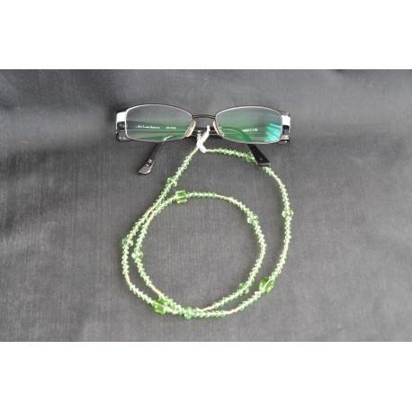 Cordon à lunettes en cristal de Swarovski péridot