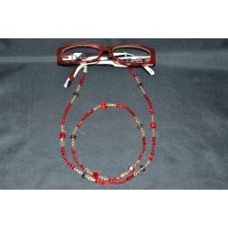 Cordon à lunettes en cristal de Swarovski light siam ab crystal golden shadow