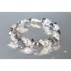 Bracelet cristal Swarovski crystal ab2x et silver 2x