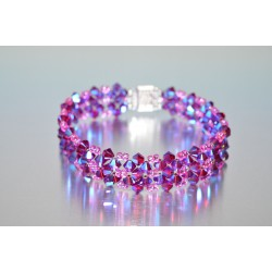 Bracelet cristal  Swarovski ruby ab2x
