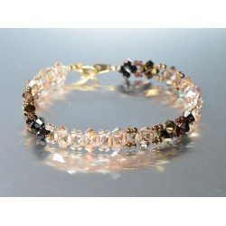 Bracelet cristal Swarovski en camaïeu de brun