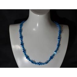 "Collier ""océan"" cristal de Swarovski capri blue ab2x"