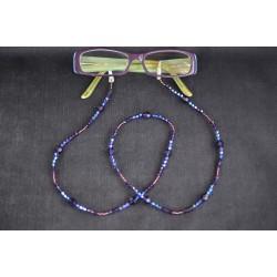 Cordon pour lunettes en crystal de Swarovski purple velvet-violet