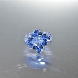 Petite bague losange cristal Swarovski light sapphir ab-sapphir satin