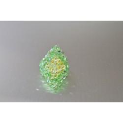 Bague cristal de Swarovski péridot ab- jonquil ab2x