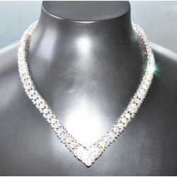 Collier en crystal, cristal ab2x