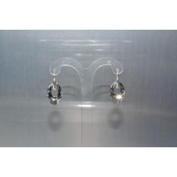 Boucles d'oreille cristal Swarovski Hélios crystal comet argent