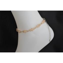Bracelet de cheville cristal de Swarovski golden shadow scintillant