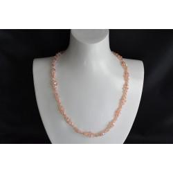 "Collier cristal Swarovski, bijou mode, light peach ab2x, ""océan"""