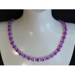 Cristal de Swarovski, collier, fuschia ab2x, mode, femme