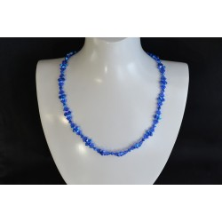 Collier cristal Swarovski, bijou mode, majestic blue 2x