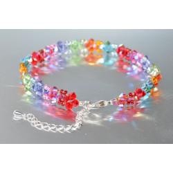 """Bracelet de cheville en cristal de Swarovski le """"Pétillant"""" multicolores"""