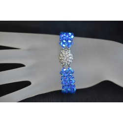Bracelet cristal de Swarovski, manchette Swarovski, accessoire mode, bracelet sapphire ab2x, femme