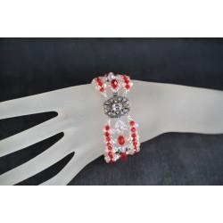 Bracelet cristal Swarovski, bijou femme, crystal ab2x, purple velvet, somptueux
