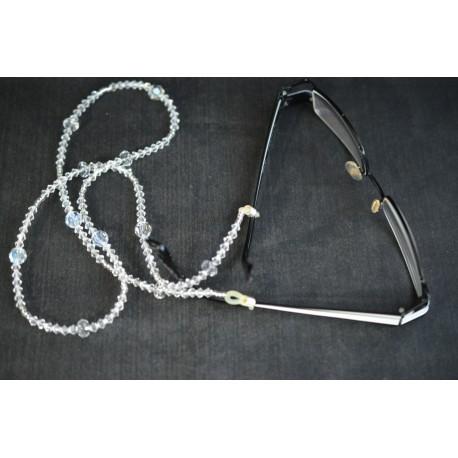 Cordon à lunettes, cristal Swarovski, chic,crystal, luxe, accessoire lunettes