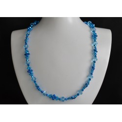 Collier, cristal Swarovski, bijou mode, crystal ab2x, femme, capri blue 2x, aquamarine, accessoire luxe