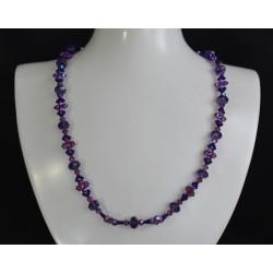 Collier, cristal Swarovski, bijou mode, crystal ab2x, femme, amethyst shimmer 2x, purple velvet, accessoire luxe