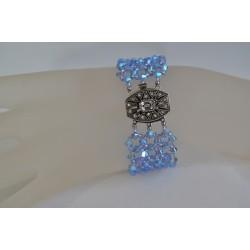 Swarovski, bracelet cristal Swarovski, bijou femme, aquamarine abx, somptueux, luxe