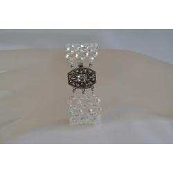 Swarovski, bracelet cristal Swarovski, bijou femme, cristal ab2x, somptueux, luxe