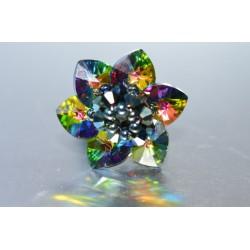 Bague cristal de Swarovski fleur crystal vitrail médium