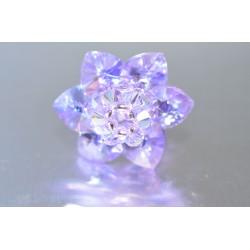 Bague cristal de Swarovski fleur violet ab