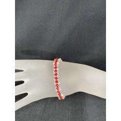 Bracelet cristal Swarovski, bijou femme, cristal ab2x, light siam, mode, luxe