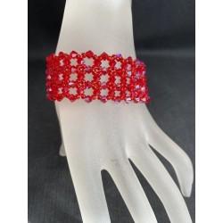 Swarovski, bracelet cristal Swarovski, bijou femme, light siam ab, somptueux, luxe