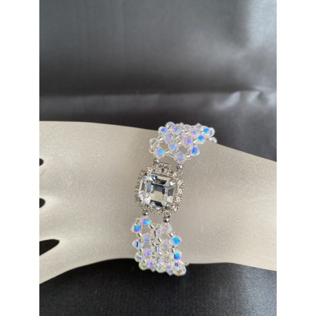 Swarovski, Bracelet cristal Swarovski, chic, femme, crystal shimmer 2x, bijou mode, luxe