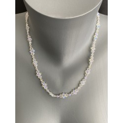Collier cristal Swarovski, bijou mode, crystal ab2x, femme, luxe
