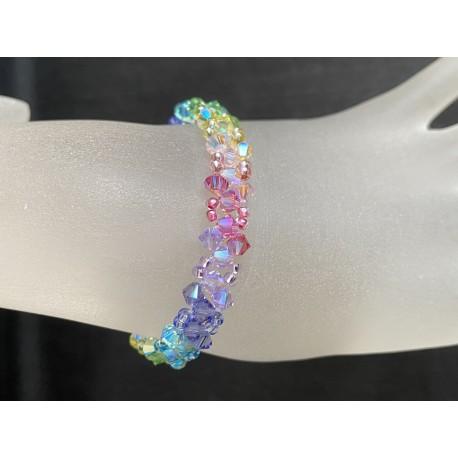 Swarovski, Bracelet cristal Swarovski, arc-en-ciel, chic, mode, femme