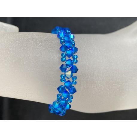 Swarovski, Bracelet Swarovski, bracelet fin, cristal Swarovski, capri blue ab2x