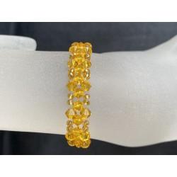 Swarovski, Bracelet Swarovski, bracelet fin, cristal Swarovski, tangerine