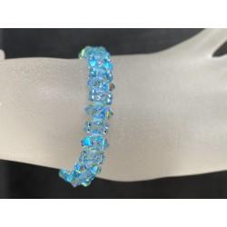 Swarovski, Bracelet Swarovski, bracelet fin, cristal Swarovski, aquamarine ab2x