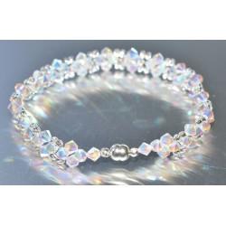 Bracelet fin cristal Swarovski crystal ab2x avec fermoir aimanté
