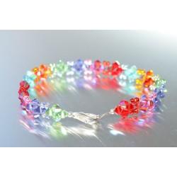 Bracelet fin en cristal Swarovski multi-couleurs