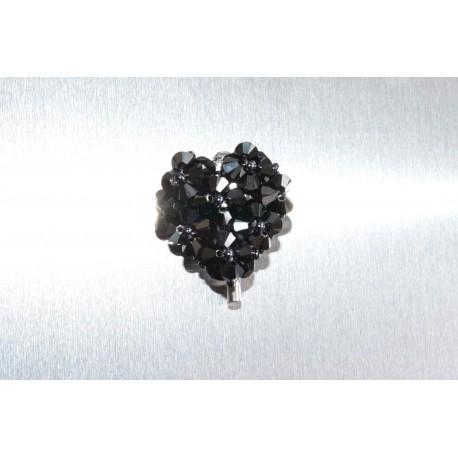 Boucles d'oreille clou cube argent 925 et cristal de Swarovski bermuda blue