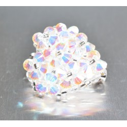 Broche cristal de Swarovski ravissant coeur crystal ab2x